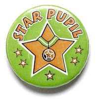 Star Pupil Button Badge</br>BA018